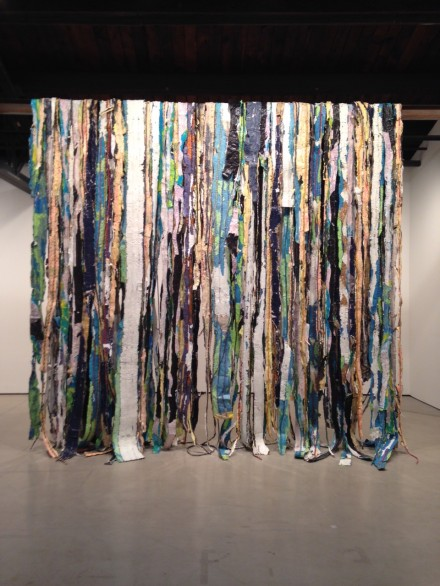 Mark Bradford, Waterfall (2015)