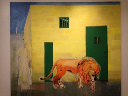 Peter Doig, Rain in the Port of Spain (White Oak) (2015)