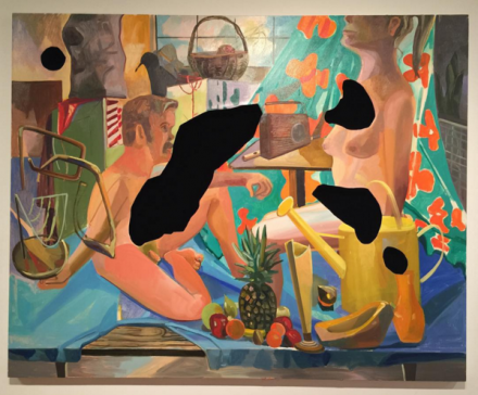 Work by Dana Schutz at Unrealism, via Rae Wang for Art Observed