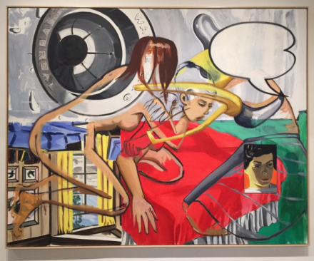 Work by David Salle at Unrealism, via Rae Wang for Art Observed
