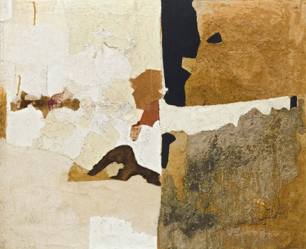 Alberto Burri, Muffa T. (Mold T.) (1952), Godwin-Ternbach Museum, Queens College, City University of New York (CUNY), Gift of G. David Thompson, 1958. Photo: Kristopher McKay © Solomon R. Guggenheim Foundation, New York
