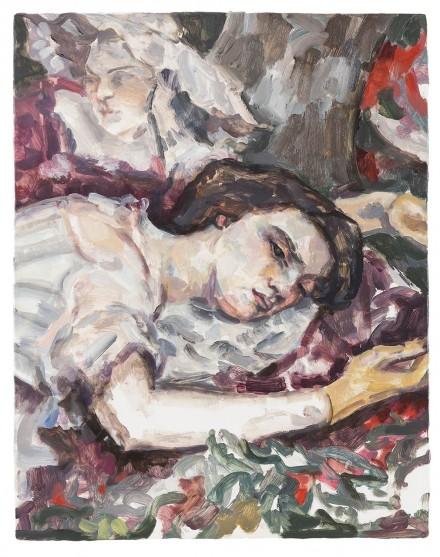 Elizabeth Peyton, Two Women (After Courbet) (2015), via Art Observed