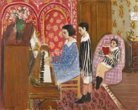 Henri Matisse, La Leçon de Piano (1923), via Sotheby's