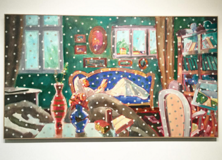 Ilya and Emilia Kabakov The Six Paintings about the Temporary Loss of Eyesight (In the Room) (2015), via Art Observed