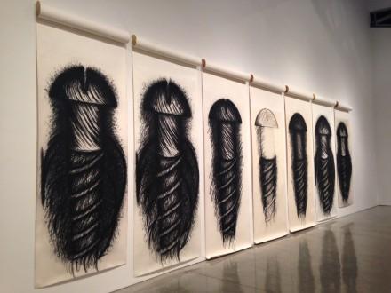 Judith Bernstein, Seven Panel Horizontal (1973-78)