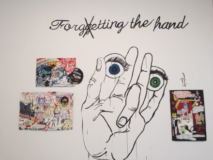 Marcel Dzama & Raymond Pettibon, Forgetting the Hand (Installation View)