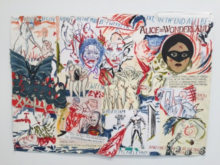 Marcel Dzama & Raymond Pettibon, The Supermen would walk in flames (2016)
