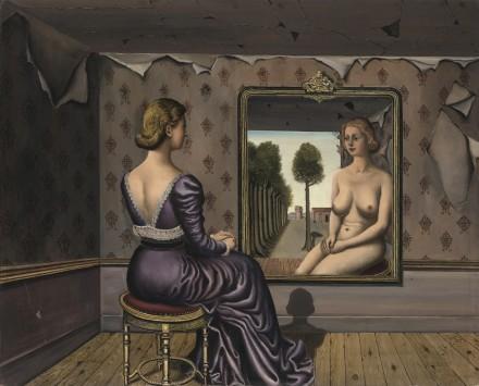 Paul Delvaux, Le Miroir (1936), via Sotheby's