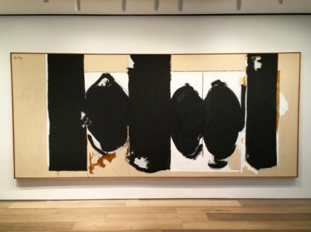 Robert Motherwell, Elegy to the Spanish Republic' (1970), via Art Observed