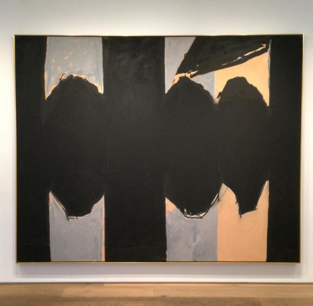 Robert Motherwell, Elegy to the Spanish Republic No. 129 (1974-75), via Art Observed