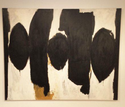Robert Motherwell, Elegy to the Spanish Republic No. 35 (1954-58), via Art Observed