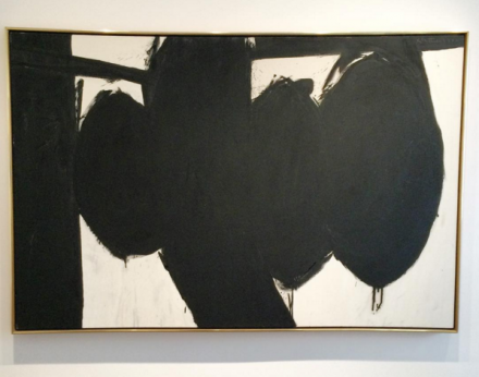 Robert Motherwell, Elegy to the Spanish Republic No. 84 (1962), via Art Observed