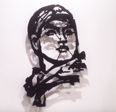 William Kentridge, Head (Model Opera) (2015), via Art Observed