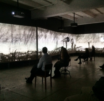 William Kentridge, More Sweetly Play the Dance (2015), via Art Observed
