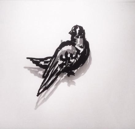 William Kentridge, Small Silhouette 35 (2015), via Art Observed