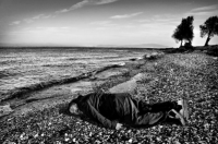 Ai Weiwei poses in Lesbos, via The Guardian