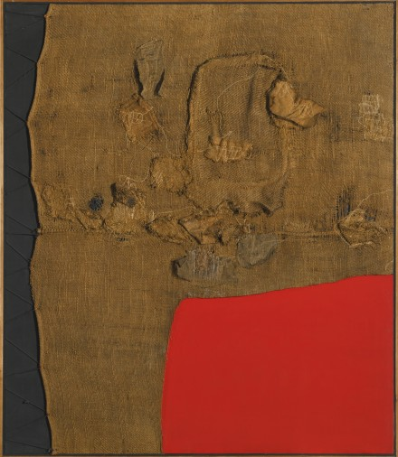 Alberto Burri, Sacco e Rosso (1959), via  Sotheby's