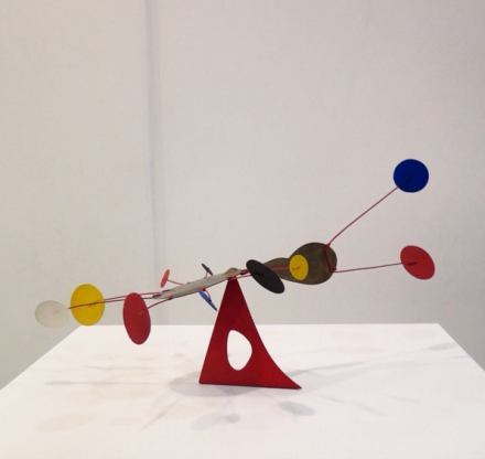 Alexander Calder at Venus Over Manhattan, via Art Observed