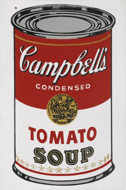 Andy Warhol, Large Campbell's Soup Can (1964), via Sotheby's