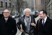 Ann Freedman leaving court, via NYT