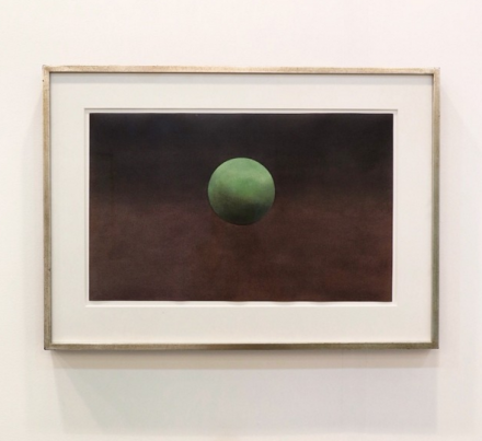 Ed Ruscha at Elvira Gonzalez, via Art Observed