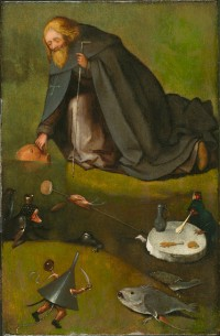 Hieronymus Bosch, The Temptation of St. Anthony, via NYT