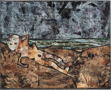 Jean Dubuffet, Bain de Soleil (1956), via Phillips