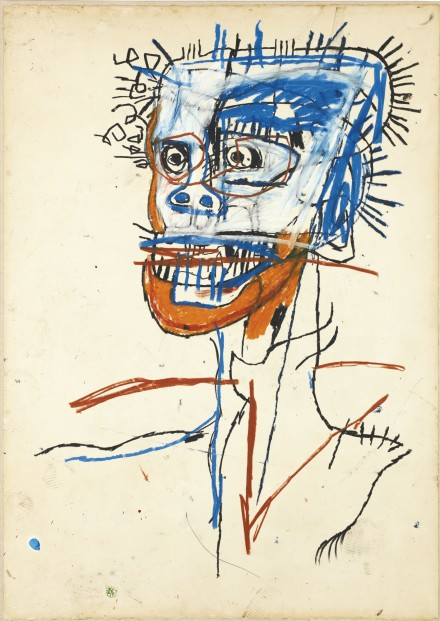 Jean Michel-Basquiat, Untitled (Head of Madman) (1982), via Sotheby's