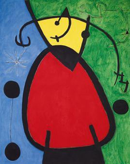 Joan Miró, Femme et Oiseau Dans La Nuit (1968), via Christie's