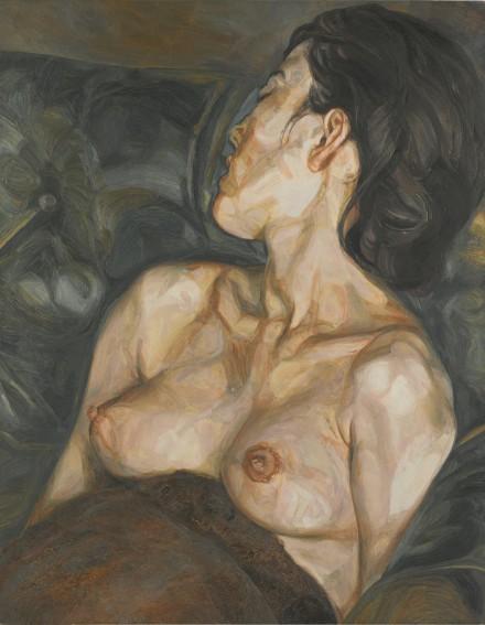 Lucian Freud, Pregnant Girl (1960-61), via Sotheby's