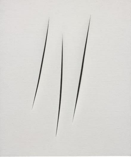 Lucio Fontana, Concetto Spaziale, Attese (1965), via Phillips