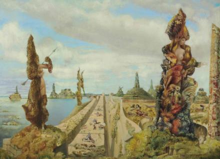 Max Ernst, The Stolen Mirror (1941), via Christie's
