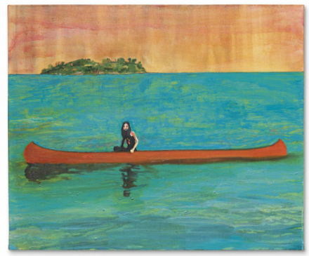 Peter Doig, Island Painting (2000-01), via Christie's
