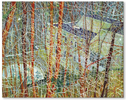 Peter Doig, The Architect's Home in the Ravine (1991), via Christie's