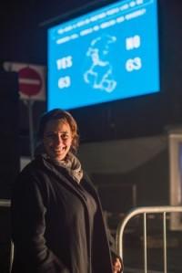 Tania Bruguera performing Referendum in Toronto, via Art Newspaper