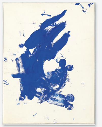 Yves Klein, Anthropométrie sans titre, (ANT 118) (Untitled Anthropometry, (ANT 118)) (1960), via Christie's