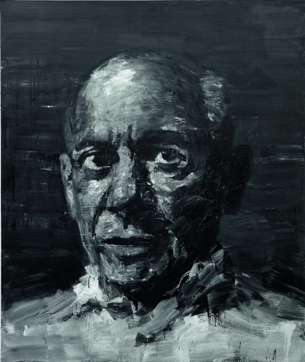 Yan Pei-Ming, Portrait de Picasso (2009) © Yan Pei-Ming, ADAGP, Paris, 2015.   Photographie : André Morin