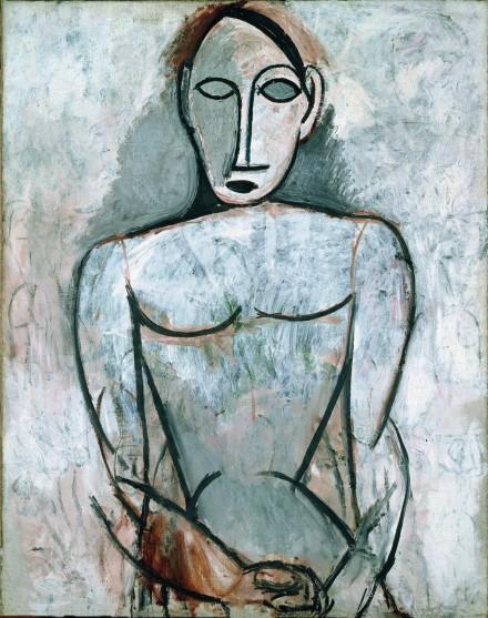Pablo Picasso, Femme aux mains jointes («étude pour «Les demoiselles d'Avignon») (1907) © Succession Picasso 2015 / photo Rmn-Grand Palais / Re- né-Gabriel Ojéda