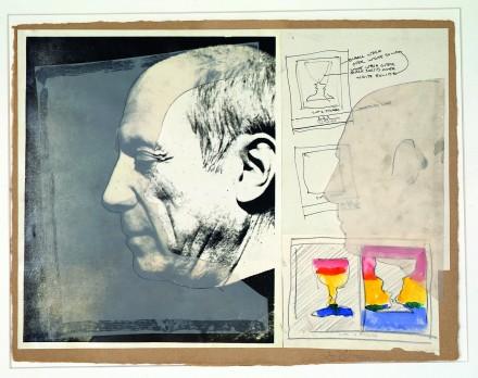 Jasper Johns, Sketch for Cups 2 Picasso [Esquisse pour Gobelets à Picasso] (1971-1972) © Jasper Johns / ADAGP, Paris, 2015