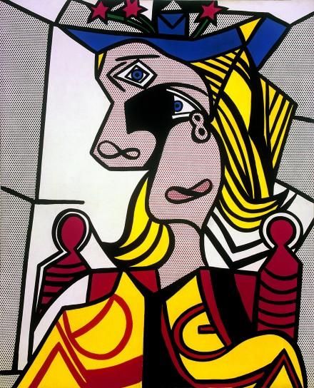 Roy Lichtenstein, Woman with Flowered Hat [Femme au chapeau  euri] (1963), © Estate of Roy Lichtenstein New York / ADAGP, Paris, 2015